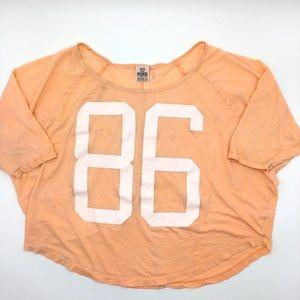 VS PINK | Varsity Style Loose Crop Top '86' SZ XS